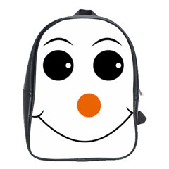 Happy Face With Orange Nose Vector File School Bags (XL)