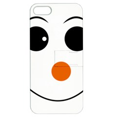Happy Face With Orange Nose Vector File Apple iPhone 5 Hardshell Case with Stand