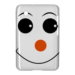 Happy Face With Orange Nose Vector File Samsung Galaxy Tab 2 (7 ) P3100 Hardshell Case