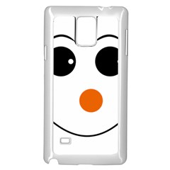 Happy Face With Orange Nose Vector File Samsung Galaxy Note 4 Case (White)