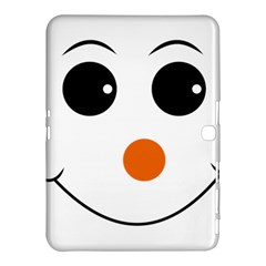 Happy Face With Orange Nose Vector File Samsung Galaxy Tab 4 (10.1 ) Hardshell Case