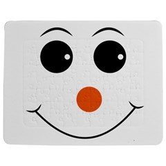 Happy Face With Orange Nose Vector File Jigsaw Puzzle Photo Stand (Rectangular)