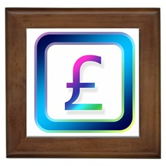 Icon Pound Money Currency Symbols Framed Tiles