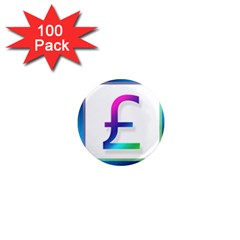 Icon Pound Money Currency Symbols 1  Mini Magnets (100 pack)