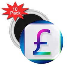 Icon Pound Money Currency Symbols 2.25  Magnets (10 pack)
