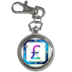Icon Pound Money Currency Symbols Key Chain Watches