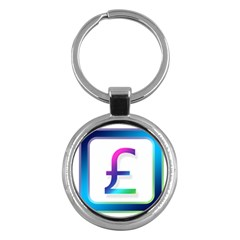 Icon Pound Money Currency Symbols Key Chains (Round)