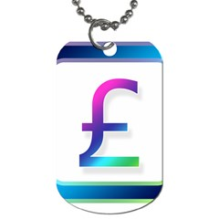 Icon Pound Money Currency Symbols Dog Tag (Two Sides)