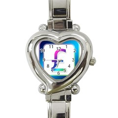 Icon Pound Money Currency Symbols Heart Italian Charm Watch
