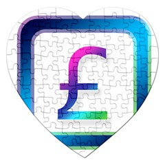 Icon Pound Money Currency Symbols Jigsaw Puzzle (Heart)