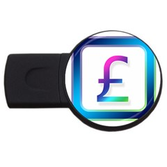 Icon Pound Money Currency Symbols USB Flash Drive Round (4 GB)