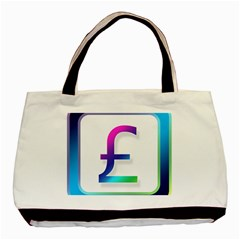 Icon Pound Money Currency Symbols Basic Tote Bag