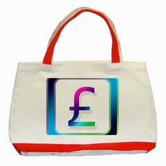 Icon Pound Money Currency Symbols Classic Tote Bag (Red)