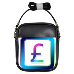 Icon Pound Money Currency Symbols Girls Sling Bags