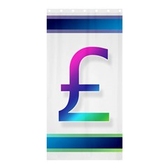 Icon Pound Money Currency Symbols Shower Curtain 36  x 72  (Stall)