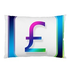Icon Pound Money Currency Symbols Pillow Case (two Sides)