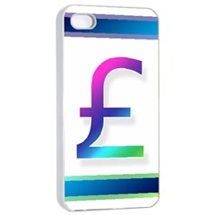 Icon Pound Money Currency Symbols Apple iPhone 4/4s Seamless Case (White)