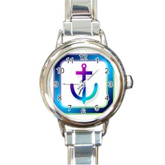 Icon Anchor Containing Fixing Round Italian Charm Watch