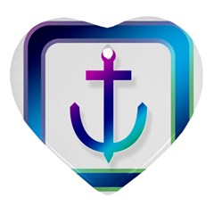Icon Anchor Containing Fixing Ornament (Heart)