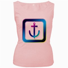 Icon Anchor Containing Fixing Women s Pink Tank Top