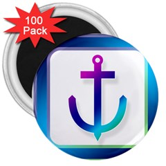 Icon Anchor Containing Fixing 3  Magnets (100 pack)
