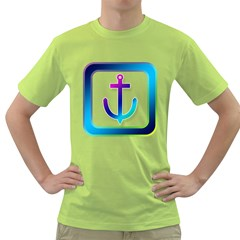 Icon Anchor Containing Fixing Green T-Shirt