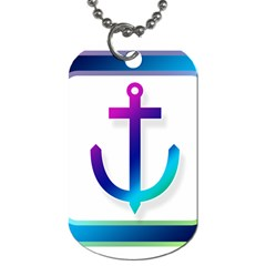 Icon Anchor Containing Fixing Dog Tag (Two Sides)