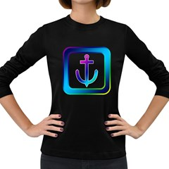 Icon Anchor Containing Fixing Women s Long Sleeve Dark T-Shirts