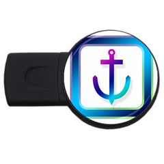 Icon Anchor Containing Fixing USB Flash Drive Round (4 GB)