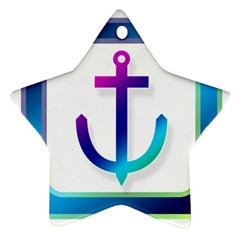 Icon Anchor Containing Fixing Star Ornament (Two Sides)