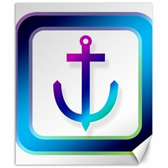 Icon Anchor Containing Fixing Canvas 20  x 24