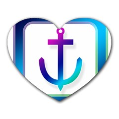 Icon Anchor Containing Fixing Heart Mousepads