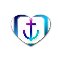 Icon Anchor Containing Fixing Heart Coaster (4 pack)