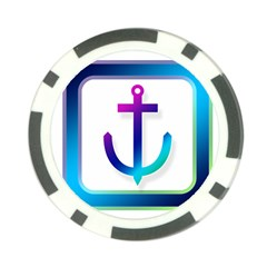 Icon Anchor Containing Fixing Poker Chip Card Guard