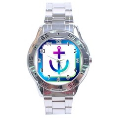 Icon Anchor Containing Fixing Stainless Steel Analogue Watch
