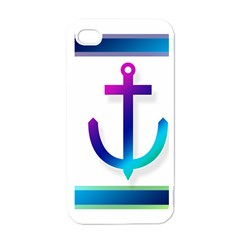 Icon Anchor Containing Fixing Apple iPhone 4 Case (White)