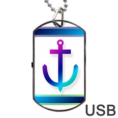Icon Anchor Containing Fixing Dog Tag USB Flash (One Side)