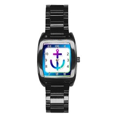 Icon Anchor Containing Fixing Stainless Steel Barrel Watch