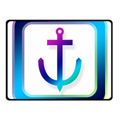 Icon Anchor Containing Fixing Double Sided Fleece Blanket (Small)
