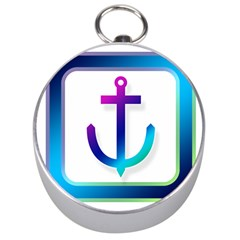 Icon Anchor Containing Fixing Silver Compasses