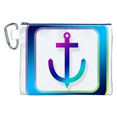 Icon Anchor Containing Fixing Canvas Cosmetic Bag (XXL)
