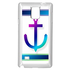 Icon Anchor Containing Fixing Samsung Galaxy Note 4 Case (White)