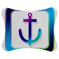 Icon Anchor Containing Fixing Jigsaw Puzzle Photo Stand (Bow)