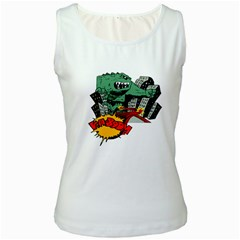 Monster Women s White Tank Top