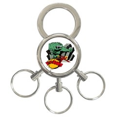 Monster 3-Ring Key Chains
