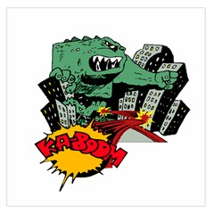 Monster Large Satin Scarf (Square)