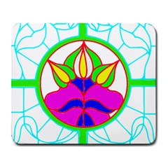 Pattern Template Stained Glass Large Mousepads