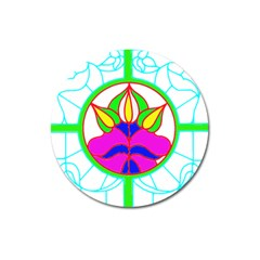 Pattern Template Stained Glass Magnet 3  (Round)