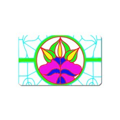 Pattern Template Stained Glass Magnet (Name Card)