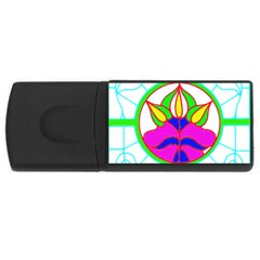 Pattern Template Stained Glass USB Flash Drive Rectangular (1 GB)